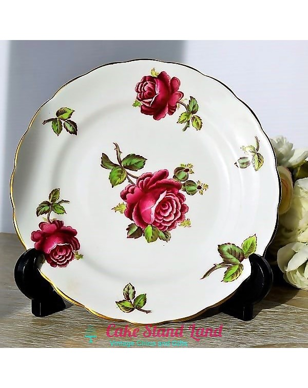 (OUT OF STOCK) NEW CHELSEA RED ROSE TEA PLATE
