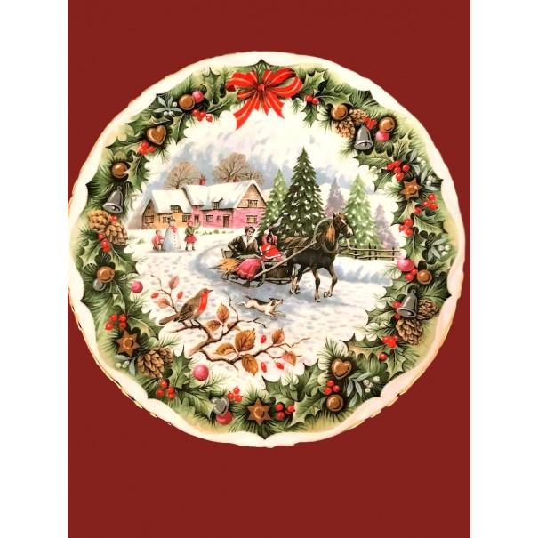 (SOLD) ROYAL ALBERT CHRISTMAS SLEIGH RIDE PLATE