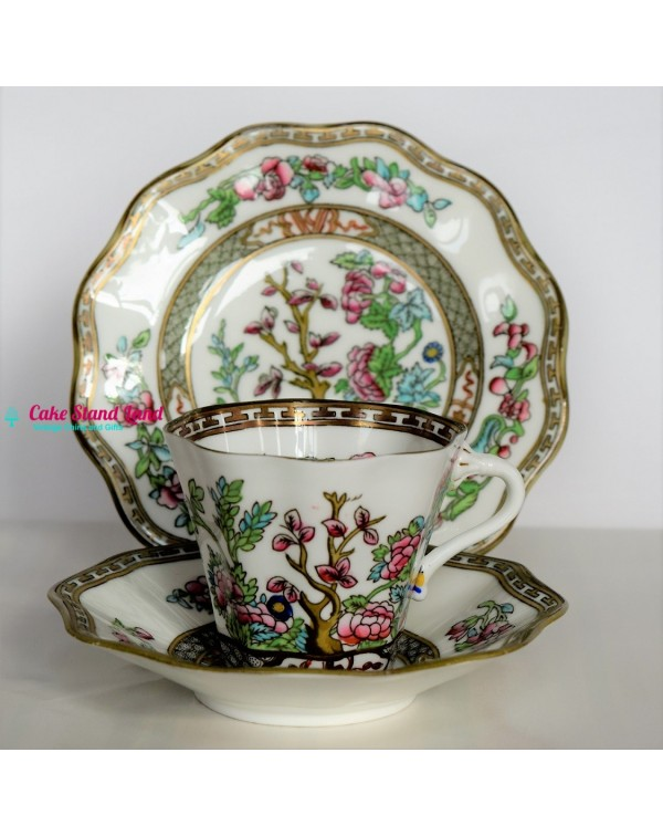 COALPORT INDIAN TREE TEA TRIO