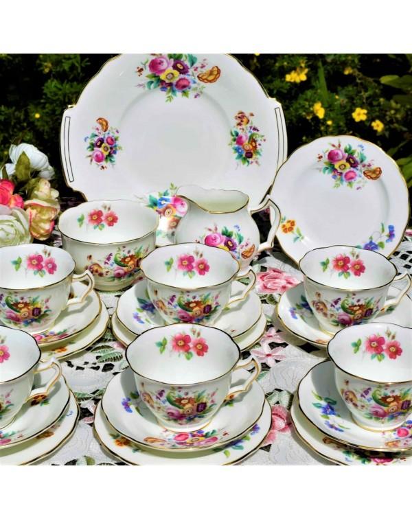 COALPORT JUNETIME TEA SET