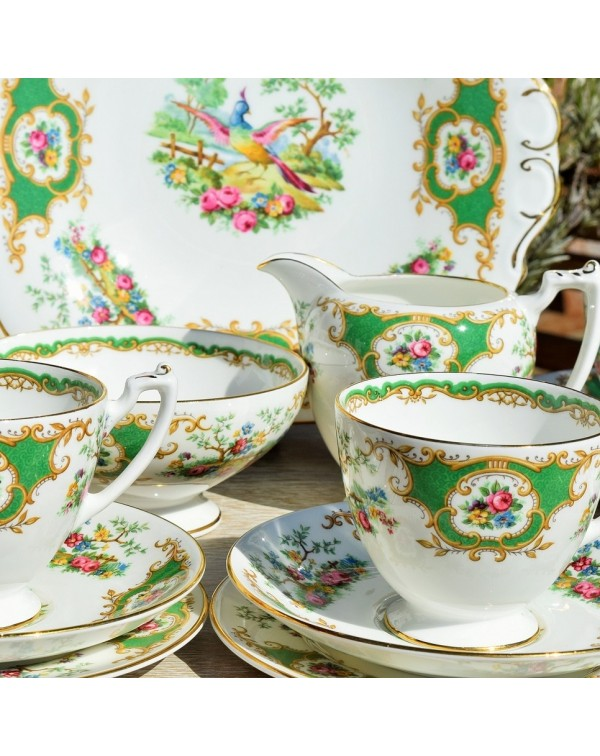 (OUT OF STOCK) COALPORT BIRD OF PARADISE TEA SET