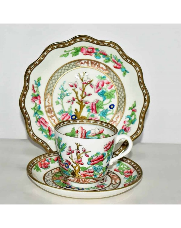 COALPORT INDIAN TREE TEA TRIO (b)