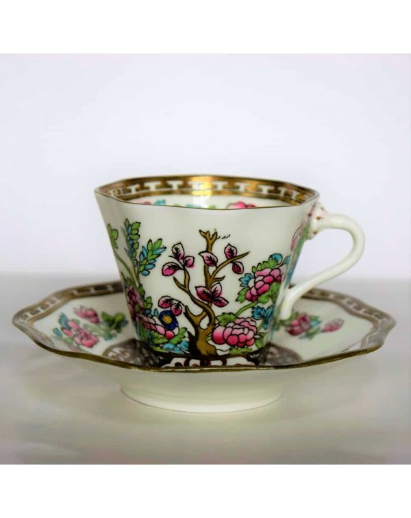 COALPORT INDIAN TREE TEA DUO