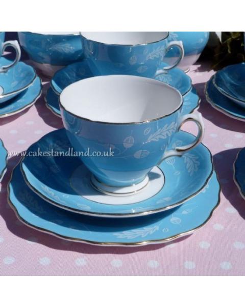(SOLD) COLCLOUGH BLUE TEA SET