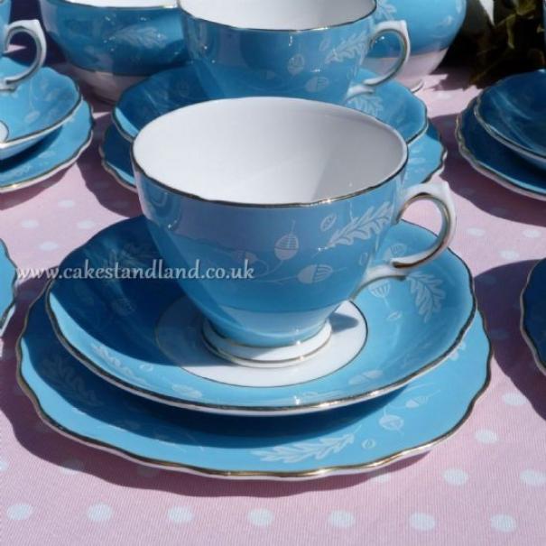 (SOLD) COLCLOUGH BLUE TEA TRIO