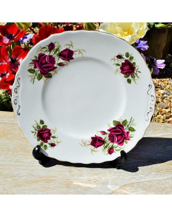 (OUT OF STOCK) COLCLOUGH ROSES CAKE PLATE