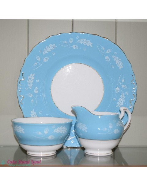 (OUT OF STOCK) COLCLOUGH BLUE CAKE PLATE SET