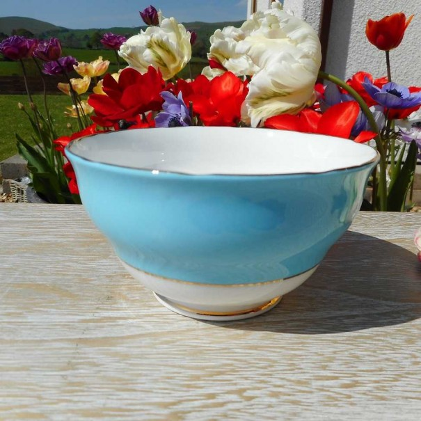 (OUT OF STOCK) COLCLOUGH BALLET BLUE SUGAR BOWL