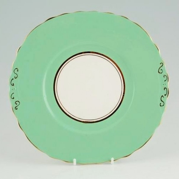 (OUT OF STOCK) COLCLOUGH BALLET GREEN CAKE PLATE