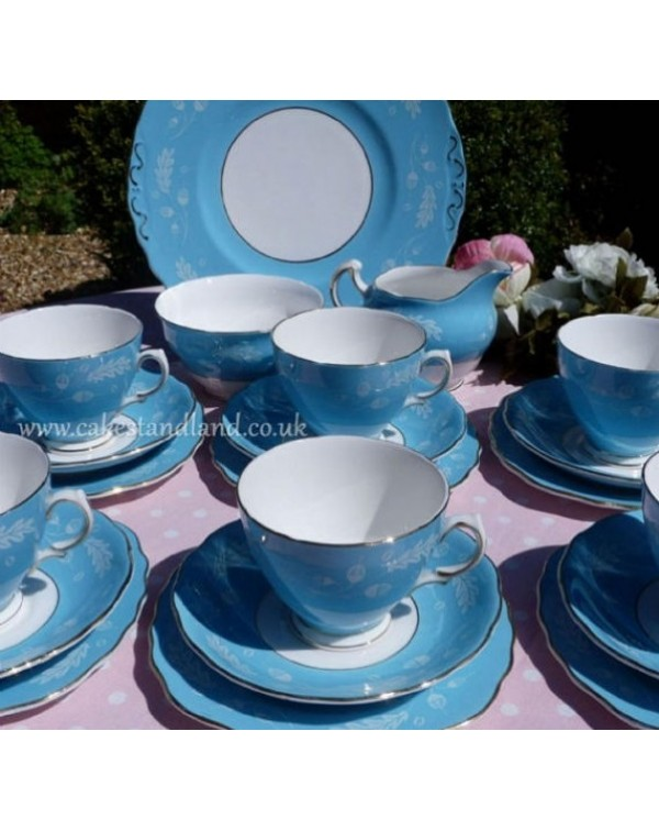 (OUT OF STOCK) COLCLOUGH BLUE TEA SET