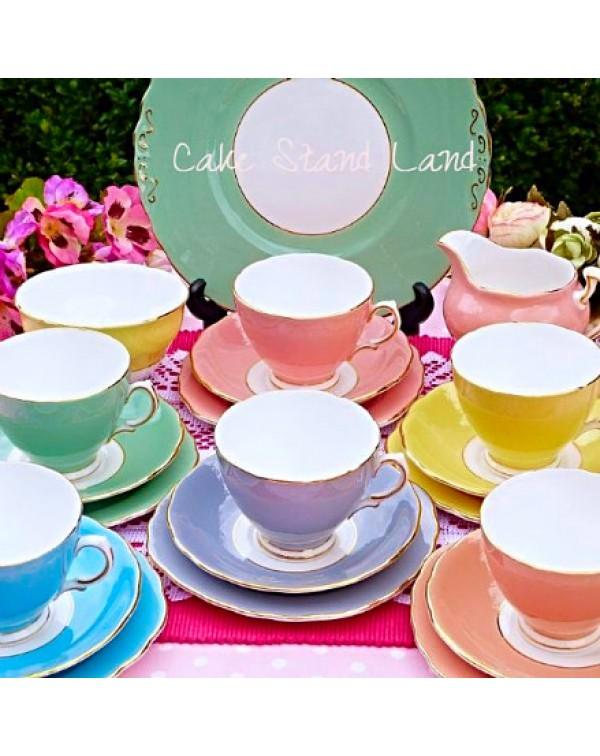 (OUT OF STOCK) COLCLOUGH HARLEQUIN TEA SET