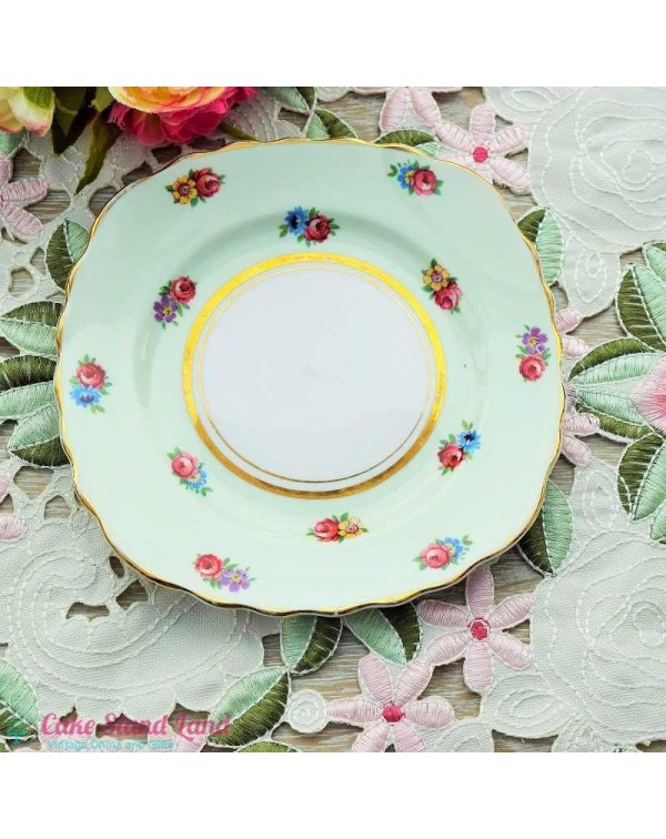 COLCLOUGH CHINA FLORAL TEA PLATE