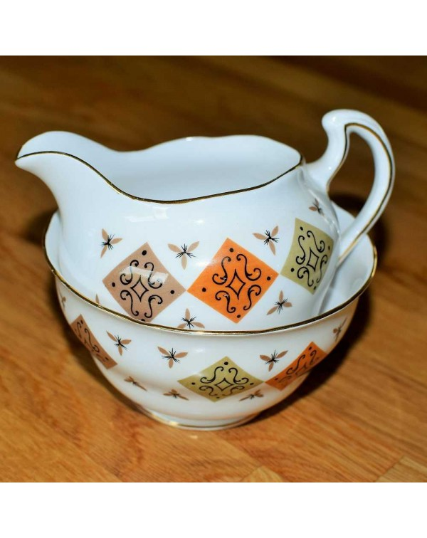 (OUT OF STOCK) COLCLOUGH MILK JUG & SUGAR BOWL