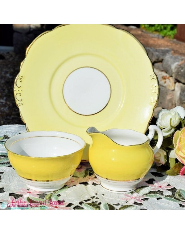 (OUT OF STOCK)COLCLOUGH BALLET YELLOW CAKE PLATE S...