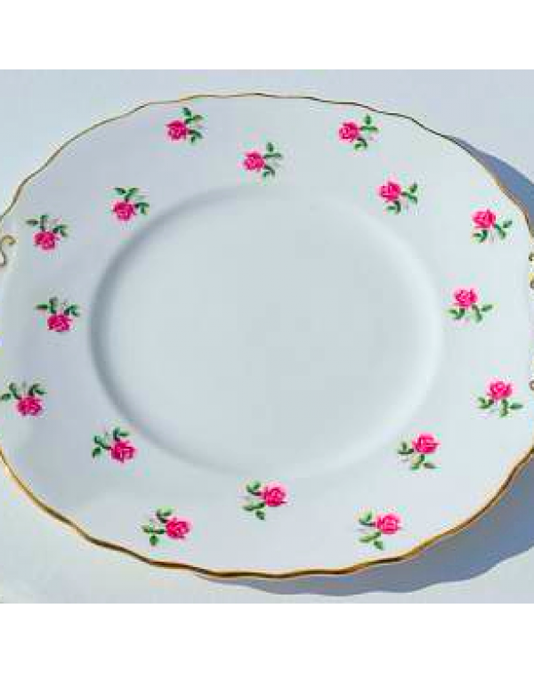 (OUT OF STOCK) COLCLOUGH ROSE BUD CAKE PLATE
