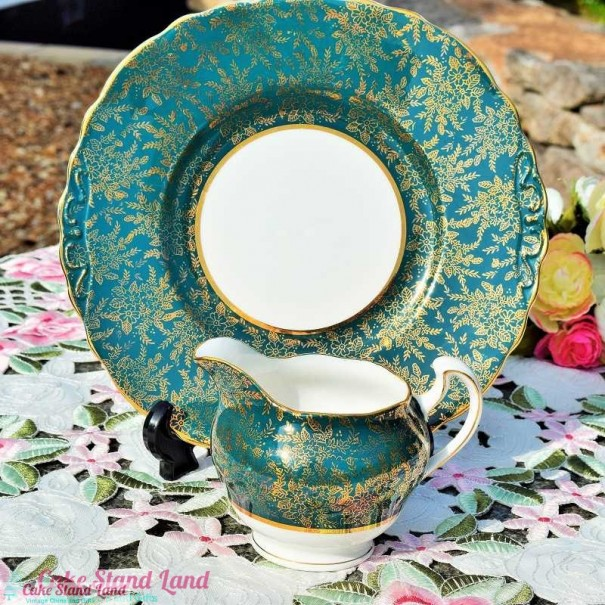 (OUT OF STOCK) COLCLOUGH LACE CAKE PLATE SET