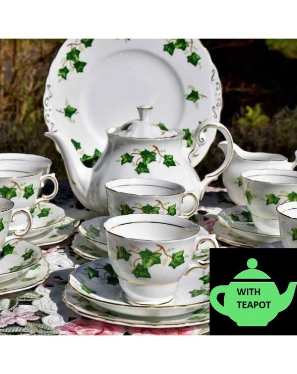 (SOLD) COLCLOUGH IVY TEA SET WITH TEAPOT