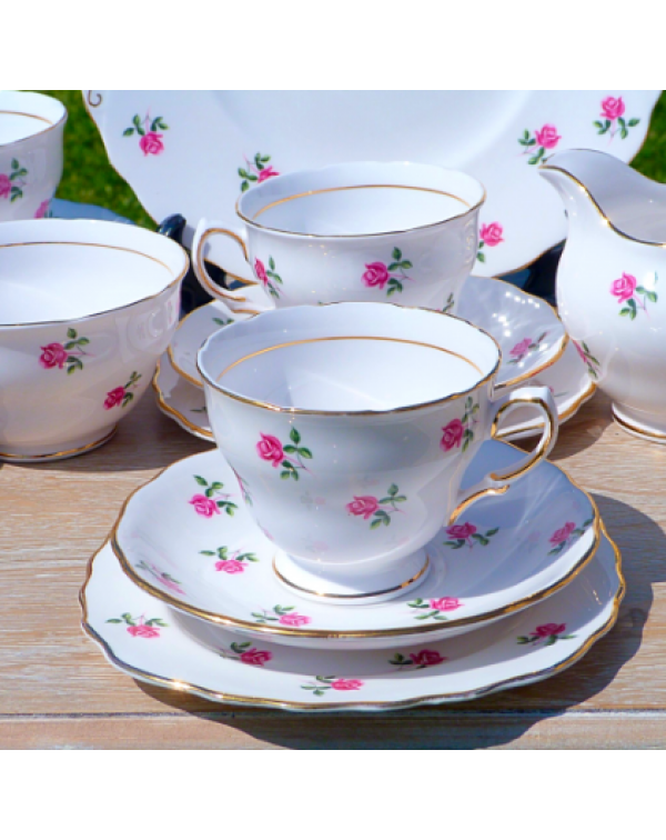 (OUT OF STOCK) COLCLOUGH FRAGRANCE ROSE TEA SET