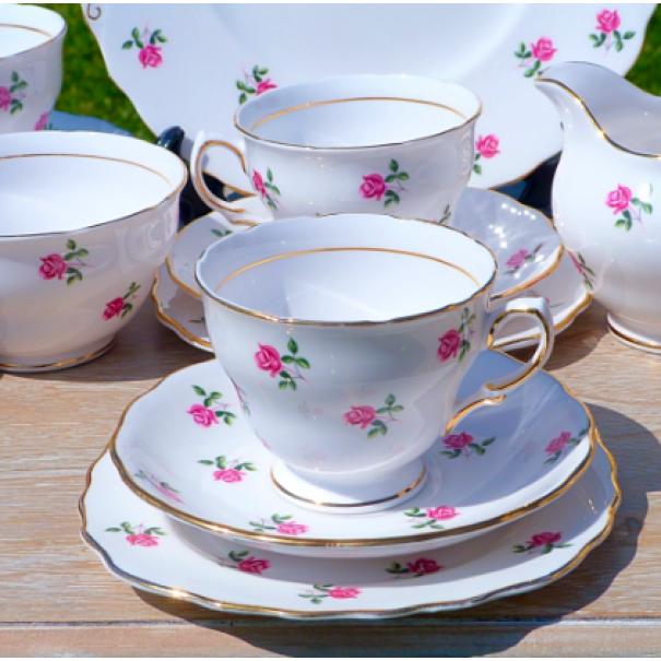 (OUT OF STOCK) COLCLOUGH FRAGRANCE ROSE TEA SET