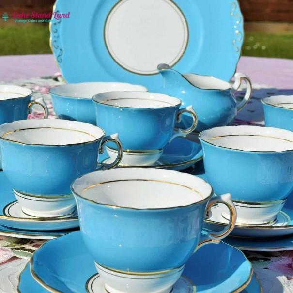 (OUT OF STOCK) COLCLOUGH BALLET BLUE VINTAGE TEA SET