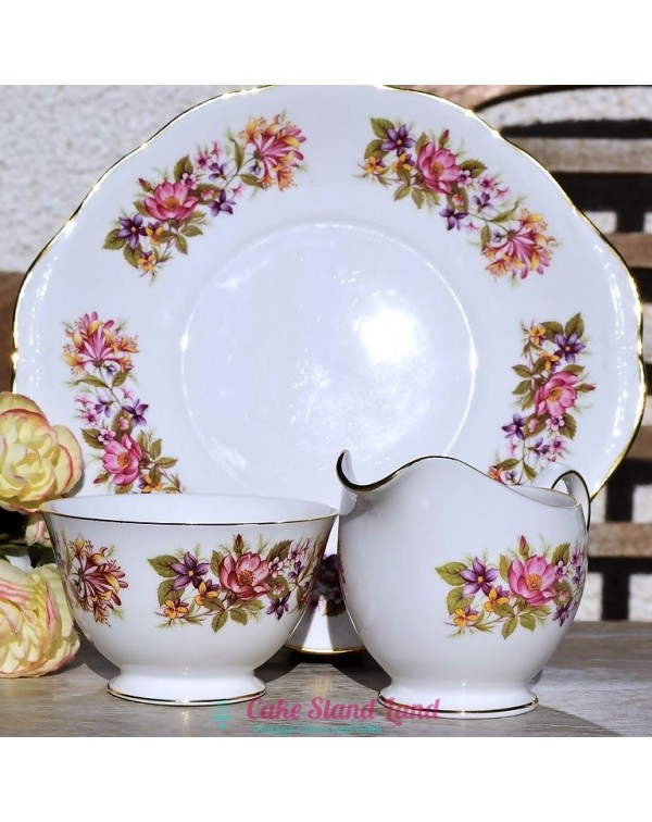 (SOLD) COLCLOUGH WAYSIDE CAKE PLATE SET