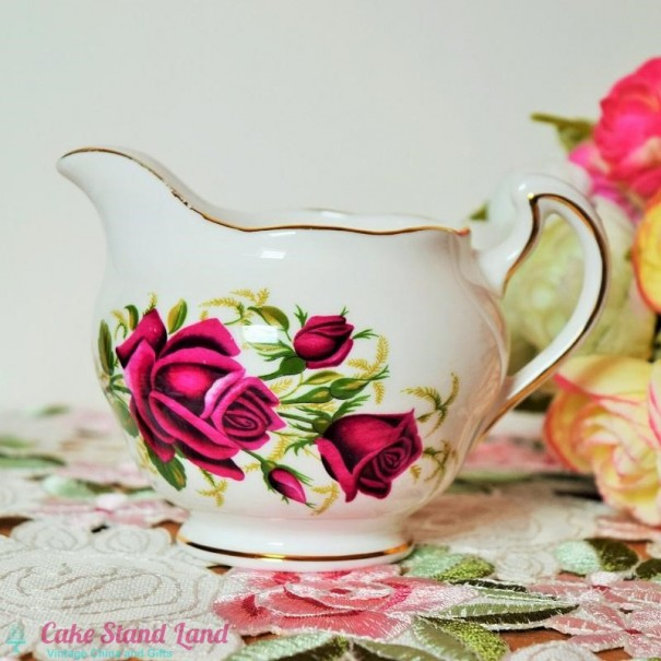 (OUT OF STOCK) COLCLOUGH ROSES MILK JUG
