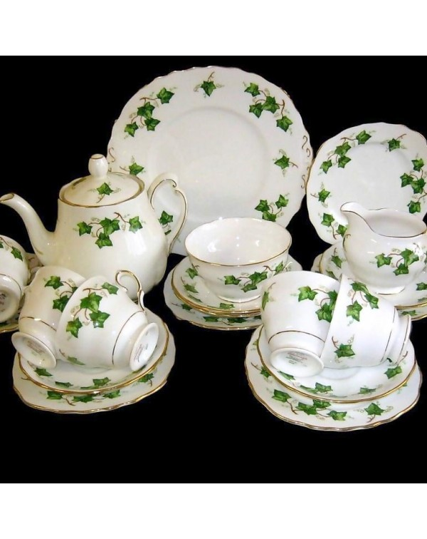(OUT OF STOCK) COLCLOUGH IVY TEA SET WITH TEAPOT