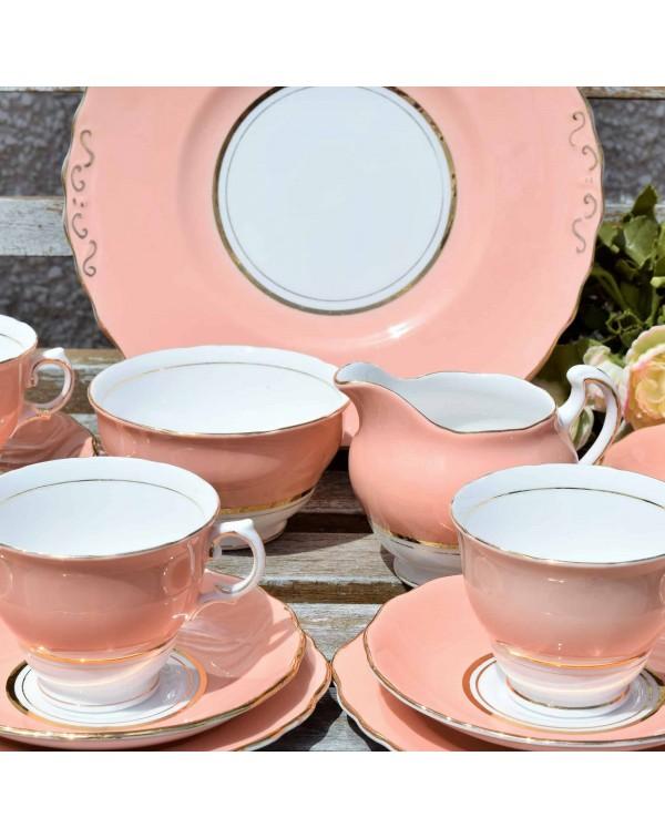 COLCLOUGH BALLET PINK TEA SET