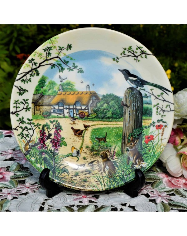 WEDGWOOD COLLECTORS PLATE THE FARM COTTAGE