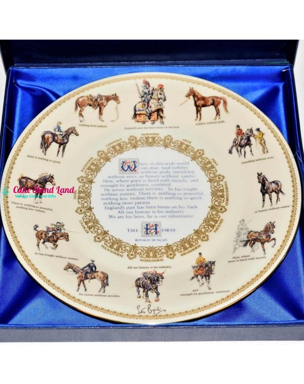 (SOLD) AYNSLEY HORSE LARGE PLATE