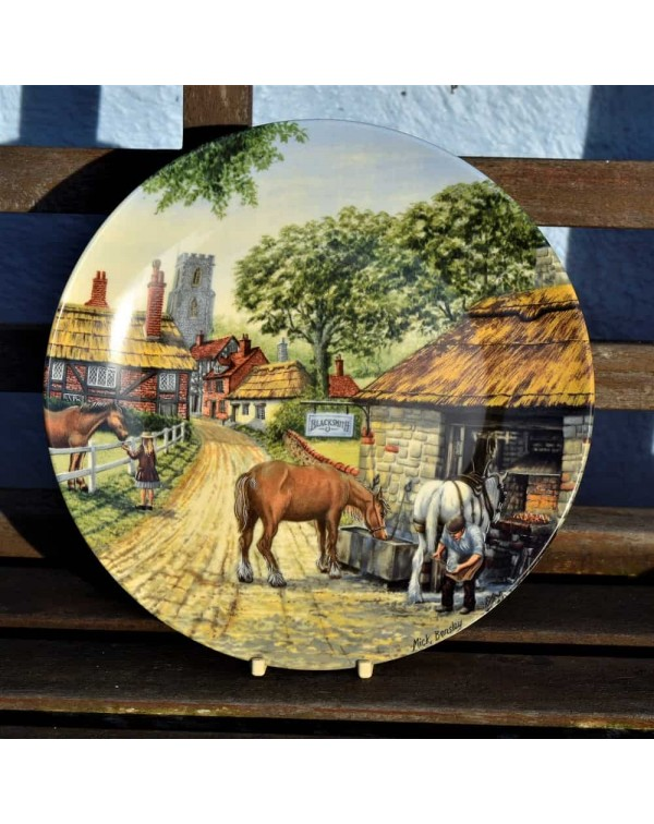 ROYAL DOULTON THE SMITHY COLLECTORS PLATE