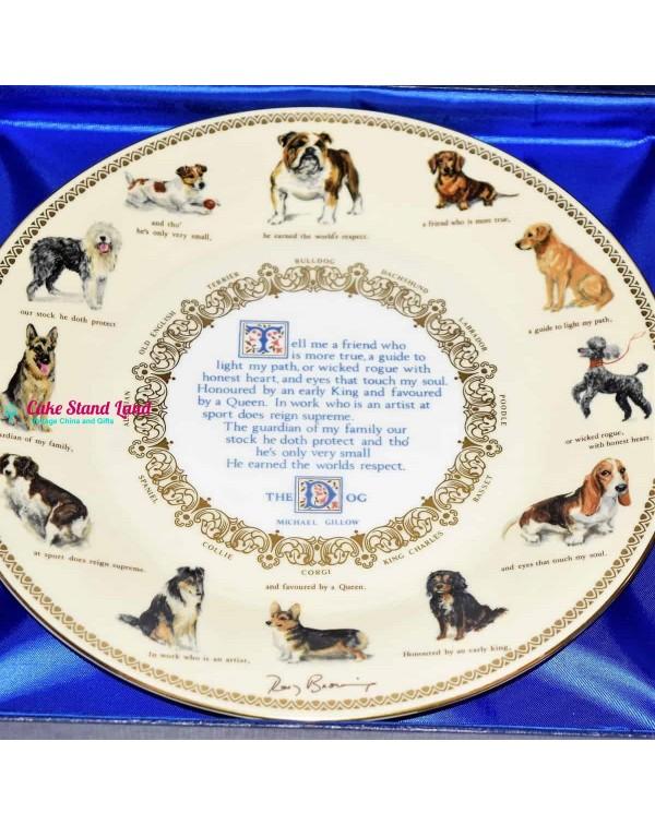 AYNSLEY DOG BREEDS LARGE PLATE