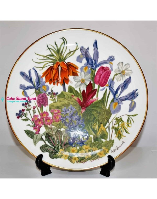 FRANKLIN MINT FLOWERS OF THE YEAR PLATE APRIL