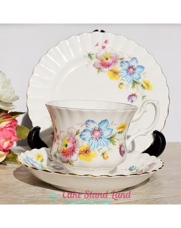 (OUT OF STOCK) CORONET FLORAL TEA TRIO