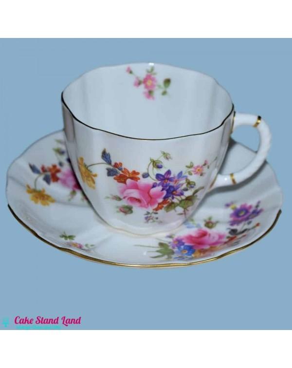ROYAL CROWN DERBY POSIES TEA CUP & SAUCER