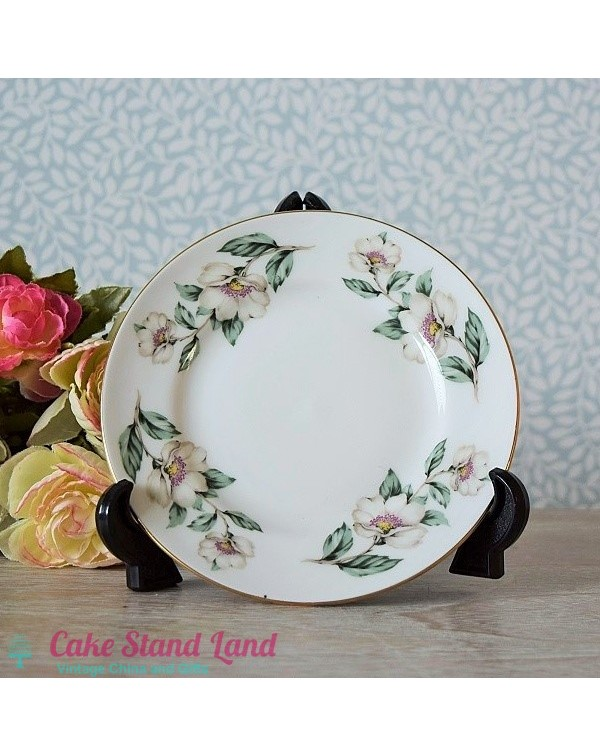 CROWN STAFFS CHRISTMAS ROSE TEA PLATE