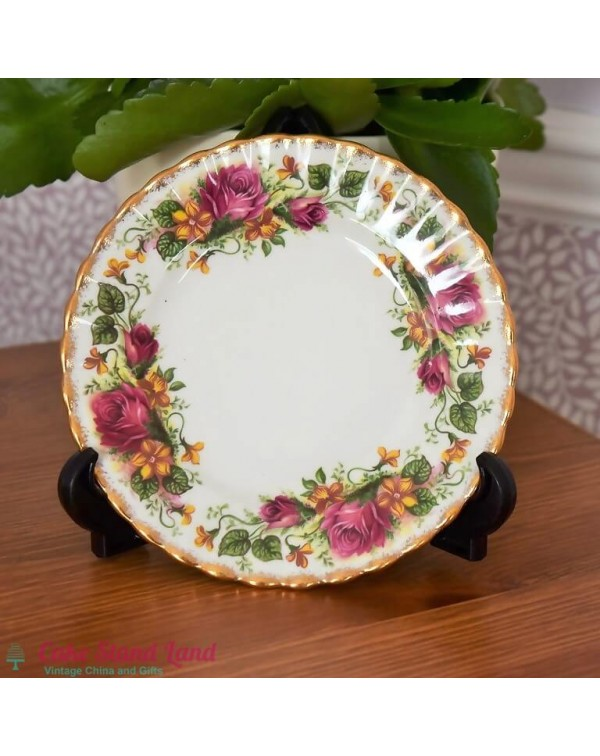 CROWN ROSES TEA PLATE