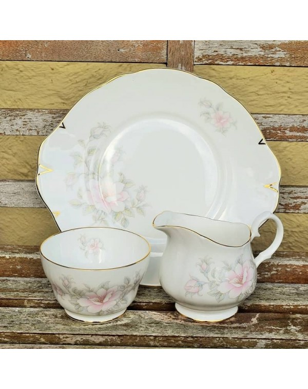 CROWN TRENT CAKE PLATE SET