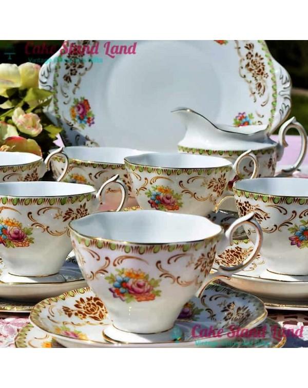 ROYAL ALBERT DAMASK TEA SET