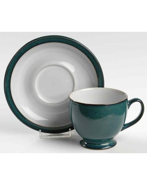 DENBY GREENWICH TEA CUP & SAUCER