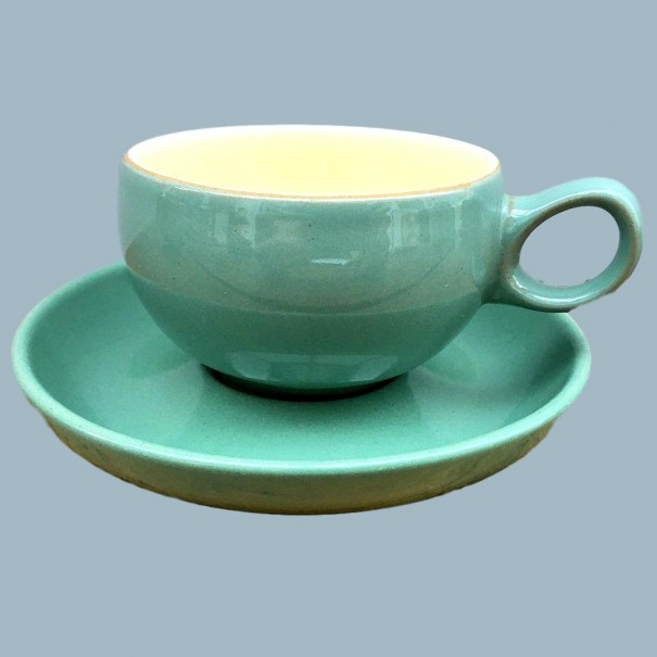 DENBY MANOR GREEN CUP & SAUCER