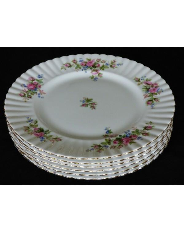 ROYAL ALBERT MOSS ROSE DINNER PLATE