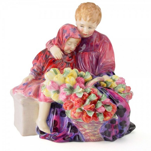 (OUT OF STOCK) HN 1342 ROYAL DOULTON FLOWER SELLERS CHILDREN