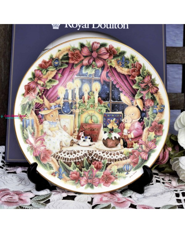 (SOLD) ROYAL DOULTON SEASONS GREETINGS PLATE
