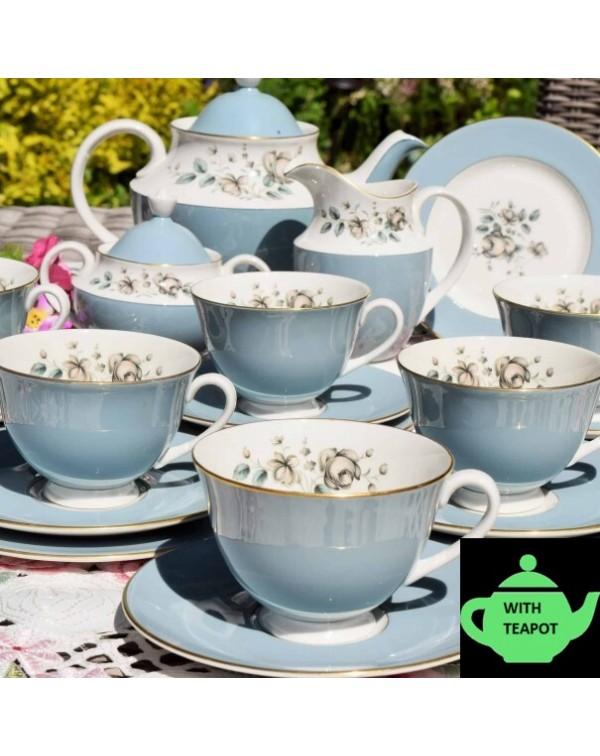 (SOLD) ROYAL DOULTON ROSE ELEGANS TEA SET