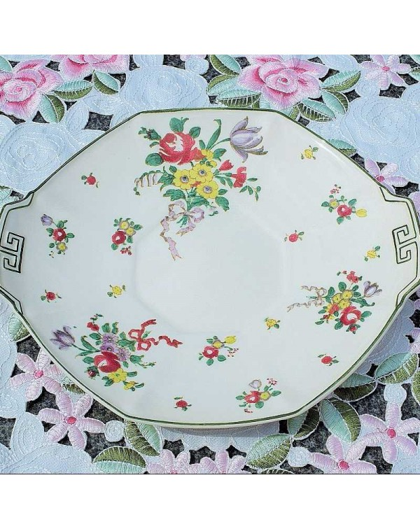 ROYAL DOULTON LEEDS SPRAYS CAKE PLATE