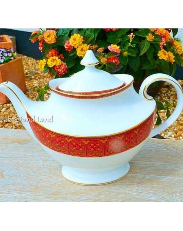 ROYAL DOULTON IMPERIAL RED TEAPOT