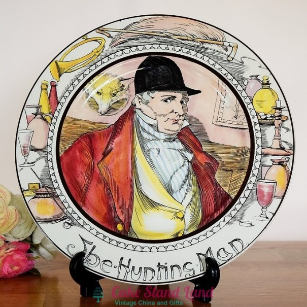 (OUT OF STOCK)  ROYAL DOULTON THE PROFESSIONALS PLATE THE HUNTINGMAN