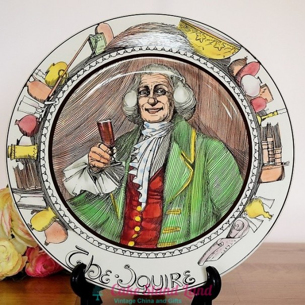 (OUT OF STOCK)  ROYAL DOULTON THE PROFESSIONALS PLATE THE SQUIRE