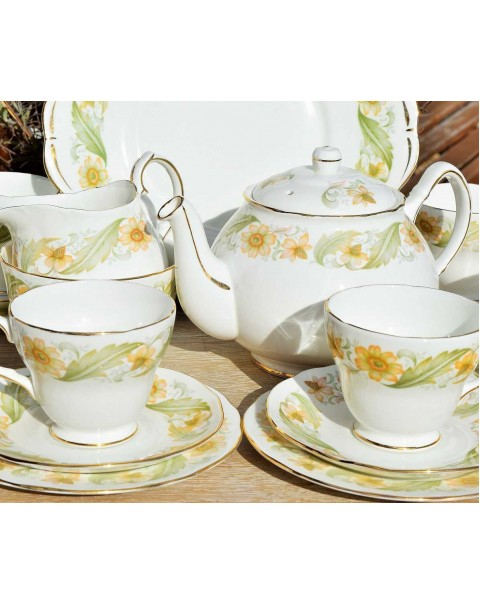 DUCHESS GREENSLEEVES TEA SET WITH TEAPOT